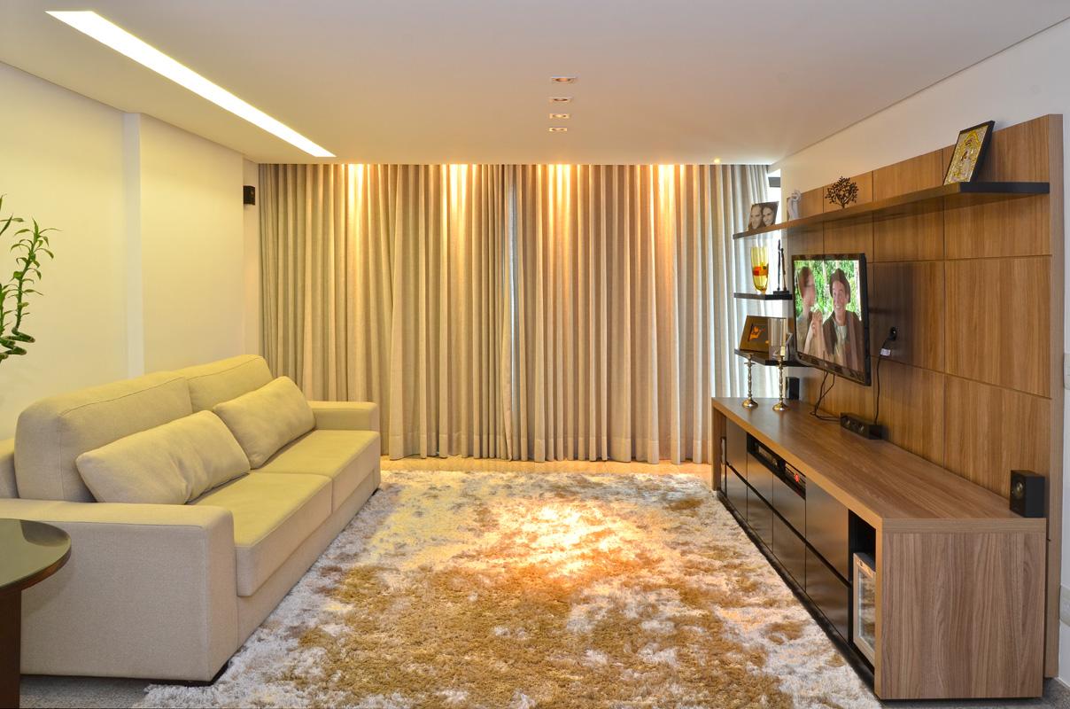 Sala De Tv Nayara Sartori Arquitetura E Interiores -> Sala De Tv Tamanho